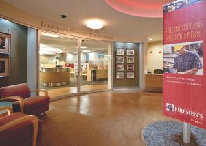Complete renovation of LA Firemens Credit Union office.