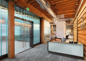 Real Estate Investment firm's new office design with seismic upgrades.
